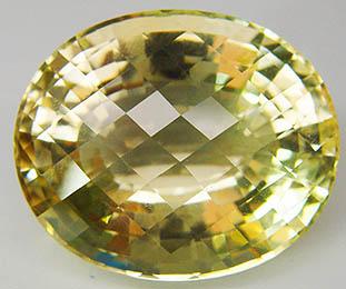 Gelber natürlicher Citrin-Edelstein im Facettenschliff