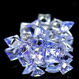 Square Tansanit Violettblau 2x2x1.5mm 0.06ct