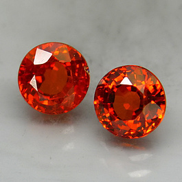 Spessartin Rund Orange 5.8mm 2.76ct - 1Paar