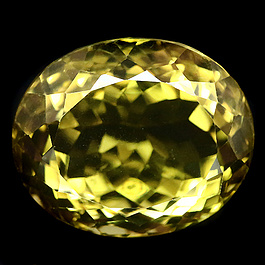 Ovaler Quarz Lemon 17.8x14.8x11.3mm 19.16ct