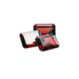 Oktagon Granat Rot 8x6mm 1.8ct