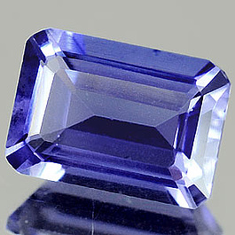 Oktagon Iolit Blau 7x5mm 1.04ct 0.9ct