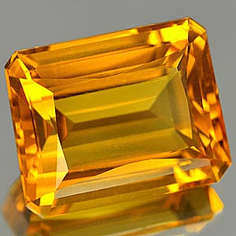 Oktagon Quarz Gelb 17.3x13.7x9.2mm 16.01ct