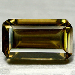 Oktagon Quarz Olivgrün 17x10mm 11.89ct