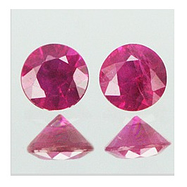 Runder Rubin Pink 2.5mm 0.08ct