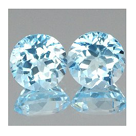 Runder Topas Sky Blue 6.0mm 1.05ct