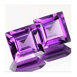 Square Amethyst Violett 3.5x3.5mm 0.193ct