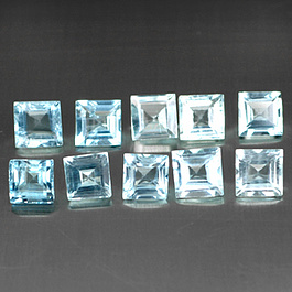 Square Aquamarin Blau 4x4mm 0.34ct PC
