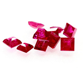 Square Rubin Pink 3x3mm 0.23ct