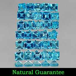 Square Topas Swissblue 2.4x2.4x1.6mm 0.08ct