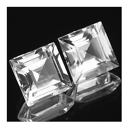 Square Topas Weiss 6x6mm 1.35ct ST