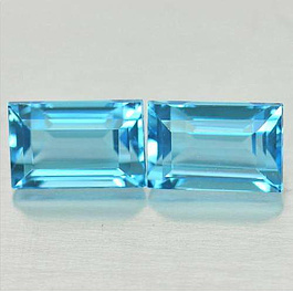 Topas Baguette Sky Blue ST 8x4mm 1.0ct