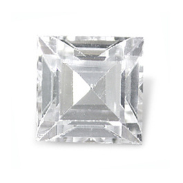 Square Topas Weiss 3x3mm 0.197ct PC