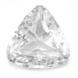 Triangle Topas Weiss 10x10mm 5.75ct