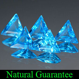 Triangle Topas Swiss Blue 6.8x6x3.5mm 0.57ct