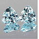 Trillion Topas Sky Blue 4x4mm 0.31ct