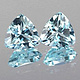 Trillion Topas Sky Blue 6x6mm 0.92ct