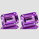 Oktagon Amethyst Violett 7x5mm 0.95ct