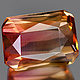 Oktagon Turmalin Party Color 6.6x4.8x4mm 1.24ct