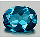 Ovaler Topas Londonblue 5x4mm 0.33ct