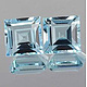 Square Topas Sky Blue 2x2mm 0.043ct