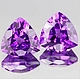 Trillion Amethyst Violett 5x5mm 0.40ct