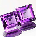 Square Amethyst Violett 5.0x5.0mm 0.60ct