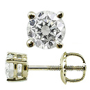 Diamant / Brillant Ohrstecker 1.00ct 18 Karat Gelbgold Basket Style