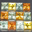 Square Safir Fancy 2.8mm 0.16ct