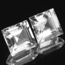 Square Topas Weiss 10x10mm 6.28ct
