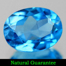 Ovaler Topas Swiss Blue 8.0x6.0mm 1.55ct