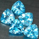 Trillion Topas Swiss Blue 5x5mm 0.55ct