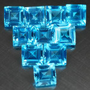 Square Topas Swiss Blue 3.1mm 0.15ct