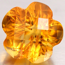 Runder Citrin Orange Blumenförmig 7.7x7.7x5.8mm 1.77ct