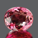Ovaler Turmalin Rot 6.2x5.2x3.5mm 0.81ct