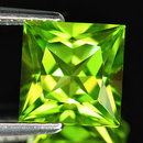 Square Peridot Grün 4.0x4.0mm 0.38ct Princesscut