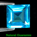 Square Topas Swissblue 7x7x4.1mm 1.90ct