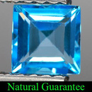 Square Topas Swissblue 4x4x2.7mm 0.37ct