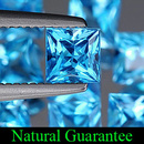 Square Topas Swissblue 4x4x2.8mm 0.42ct (10)