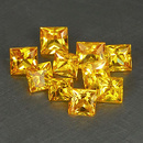 Square Saphir Gelb 2.7x2.7x2mm 0.13ct