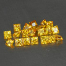 Square Saphir Gelb 2.2x2.2x1.6mm 0.07ct
