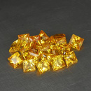 Square Saphir Gelb 2.7x2.7x1.7mm 0.13ct