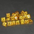 Square Saphir Gelb 2.1x2.1x1.3mm 0.07ct