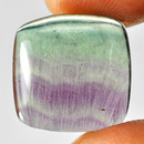 Square Fluorit Cabochon 15x14.8x5mm 12.10ct