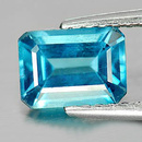 Oktagon Zirkon Blau 7x5.1x3.6mm 1.19ct