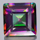 Square Quarz Mystic-Grün 11.1x11.1x7.9mm 6.54ct