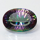 Ovaler Topas Mystic-Rainbow 18x13mm 12.02ct