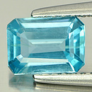 Oktagon Zirkon Blau 7x5x3mm 1.02ct