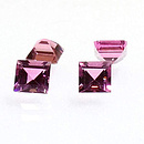 Square Turmalin Pink 4.0x4.0mm 0.35ct