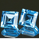 Square Topas Swiss Blue 3.5x3.5mm 0.3ct ST